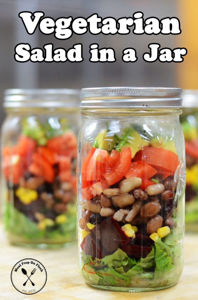 salad jar recipe - meal prep on fleek