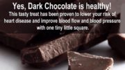 dark chocolate nutrition tip
