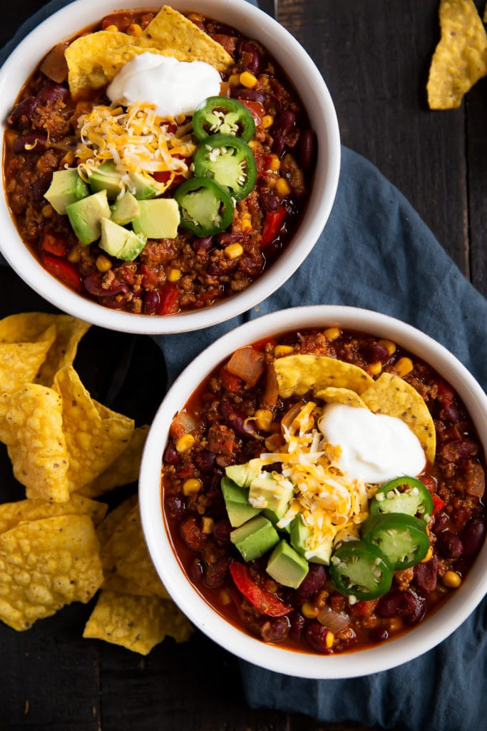 low calorie slow cooker chili recipe