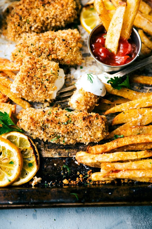Baked Fish and Chips Sheet Pan Recipes