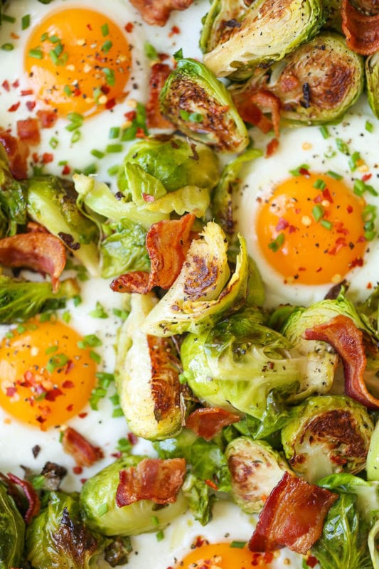 Brussels Sprouts, Eggs & Bacon Breakfast