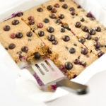 One Dish Baked Blueberry Oatmeal -9