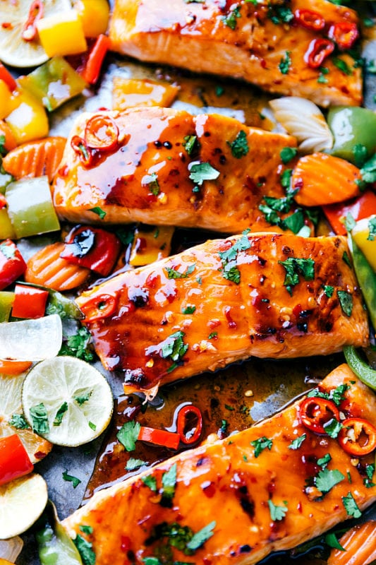 Thai Glazed Salmon Sheet Pan Recipes
