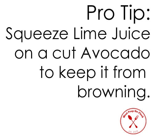 Pro Tip - Avocado and Lime Juice