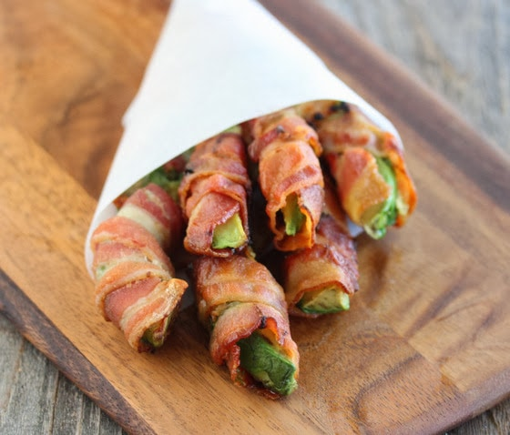 Avocado Slices Wrapped in Bacon