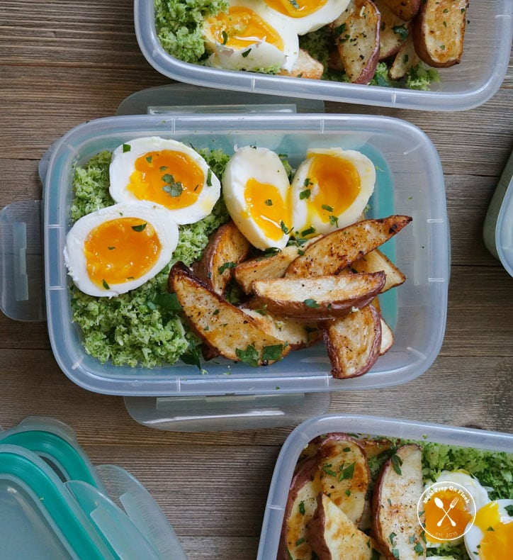 Egg, Potato, and Broccoli Paleo Breakfast Meal Prep
