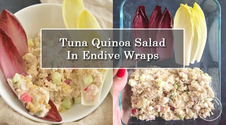 Tuna Quinoa Salad Served in Endive