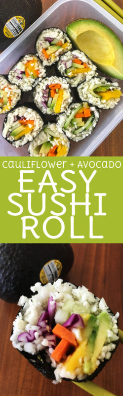 Flavors + Colors + Nutrition = 100% home run with this Vegan Avocado & Mango Sushi!Roll