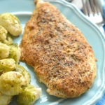 Spicy Mustard Thyme Chicken & Coconut Roasted Brussels Sprouts