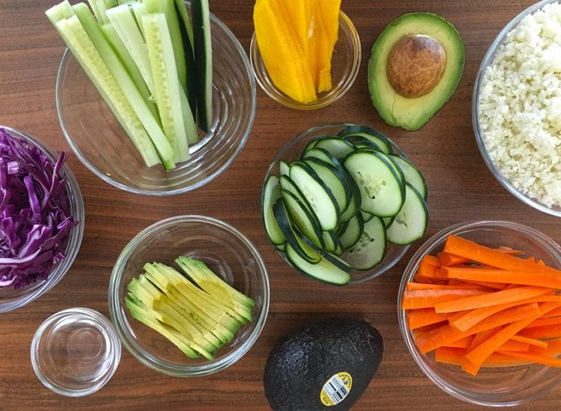 California avocado sushi ingredients