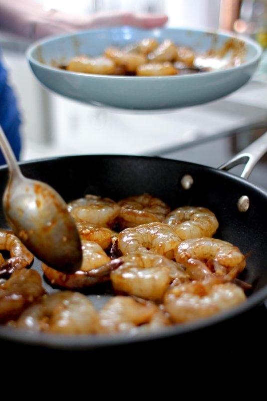 Coconut Sugar Sriracha Shrimp Meal Prep