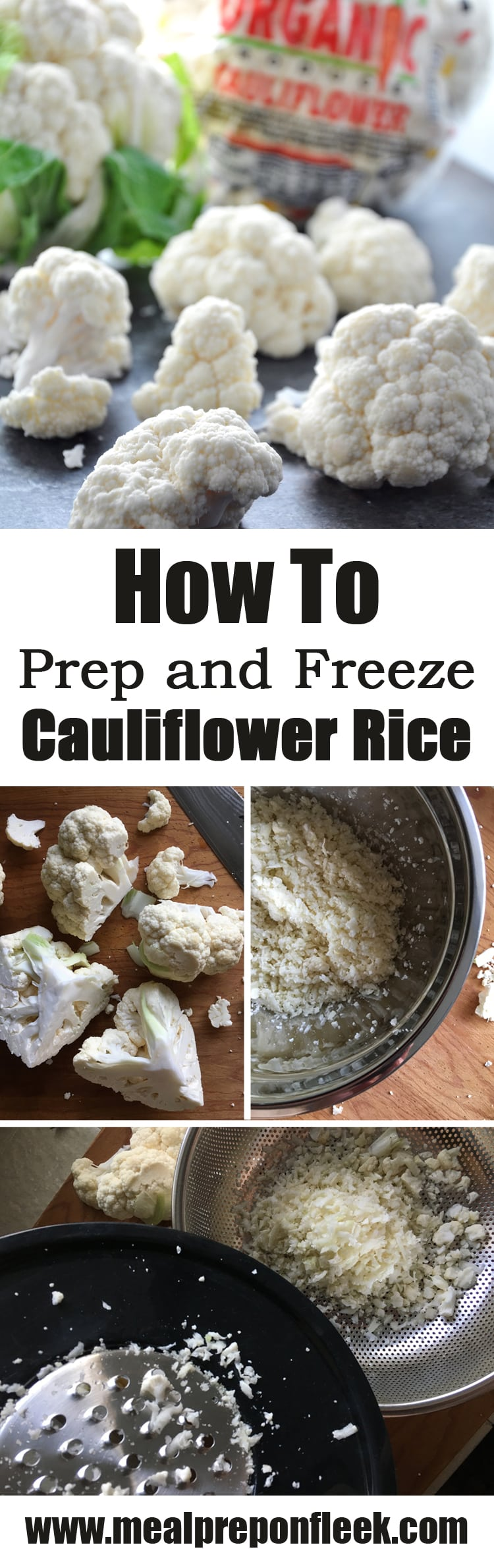 how to prep and freeze cauliflower