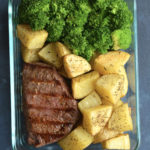 steak potatoes broccoli