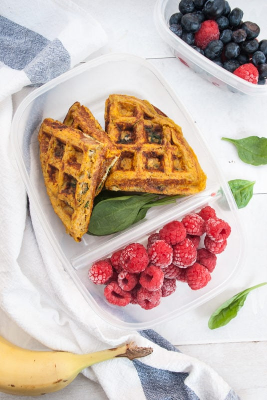 Sweet Potato Waffle Meal Prep
