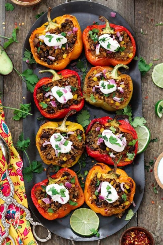 Santa Fe Quinoa Stuffed Bell Peppers