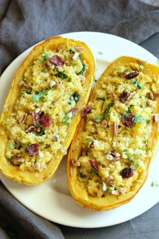 Quinoa & Spinach Delicata Squash