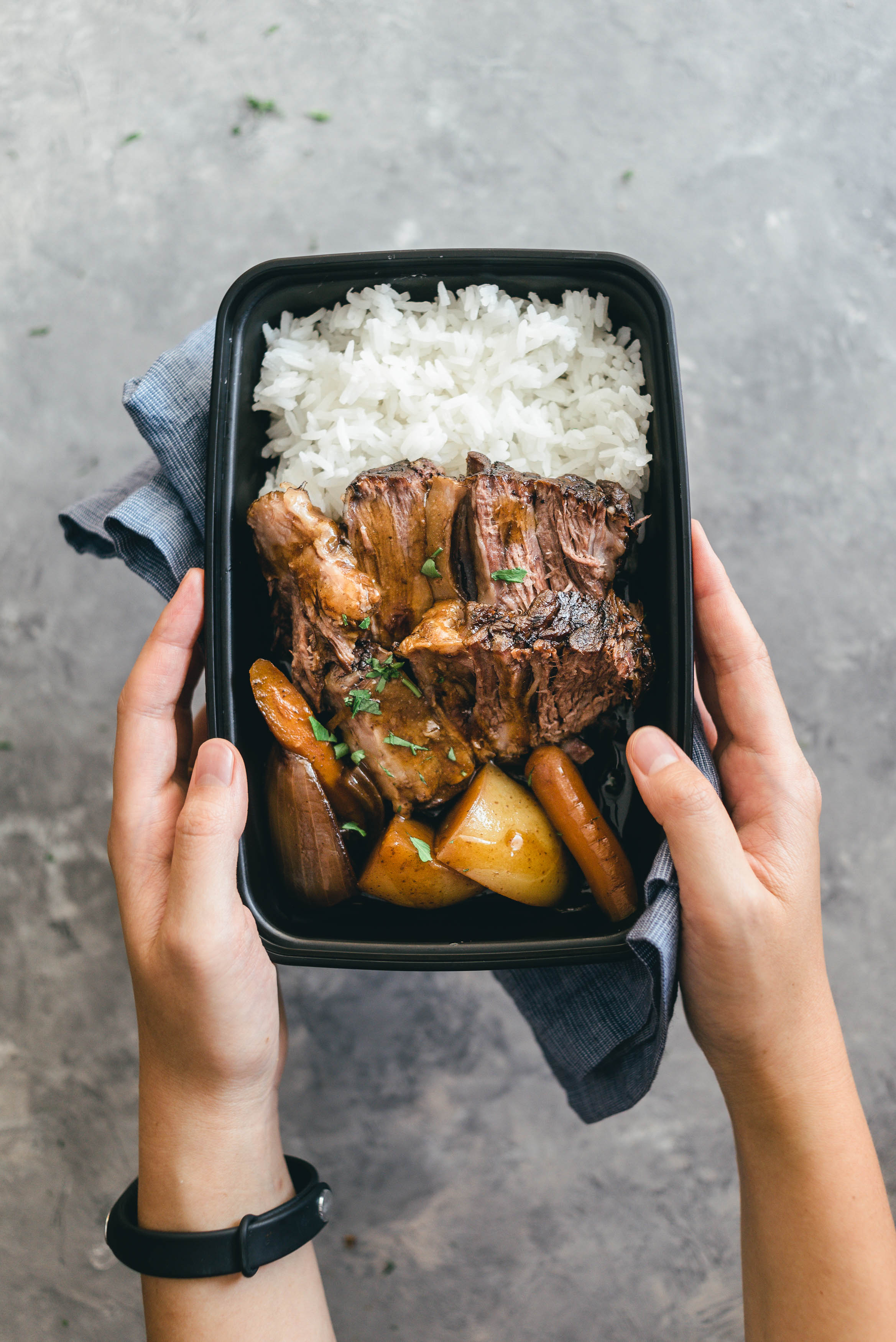 Asian Style Slow Cooker Pot Roast Meal Prep Recipe