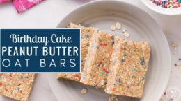 Meal Prep Recipe - Birthday Cake Peanut Butter Oat Bars