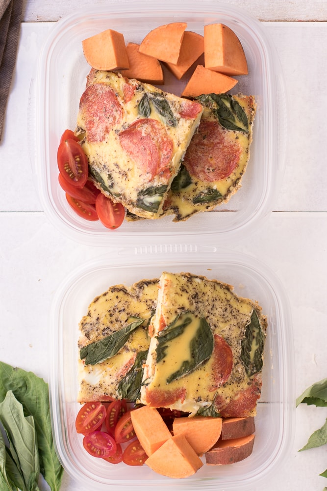 Pizza Frittata Meal Prep