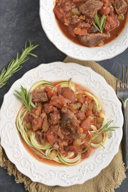 Low Carb Crockpot Beef Ragu Meal Prep Recipe