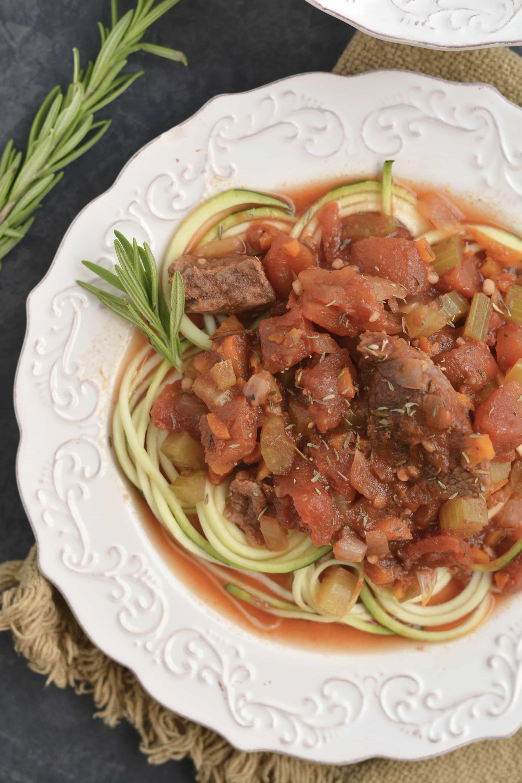 Low Carb Crockpot Beef Ragu Meal Prep Idea
