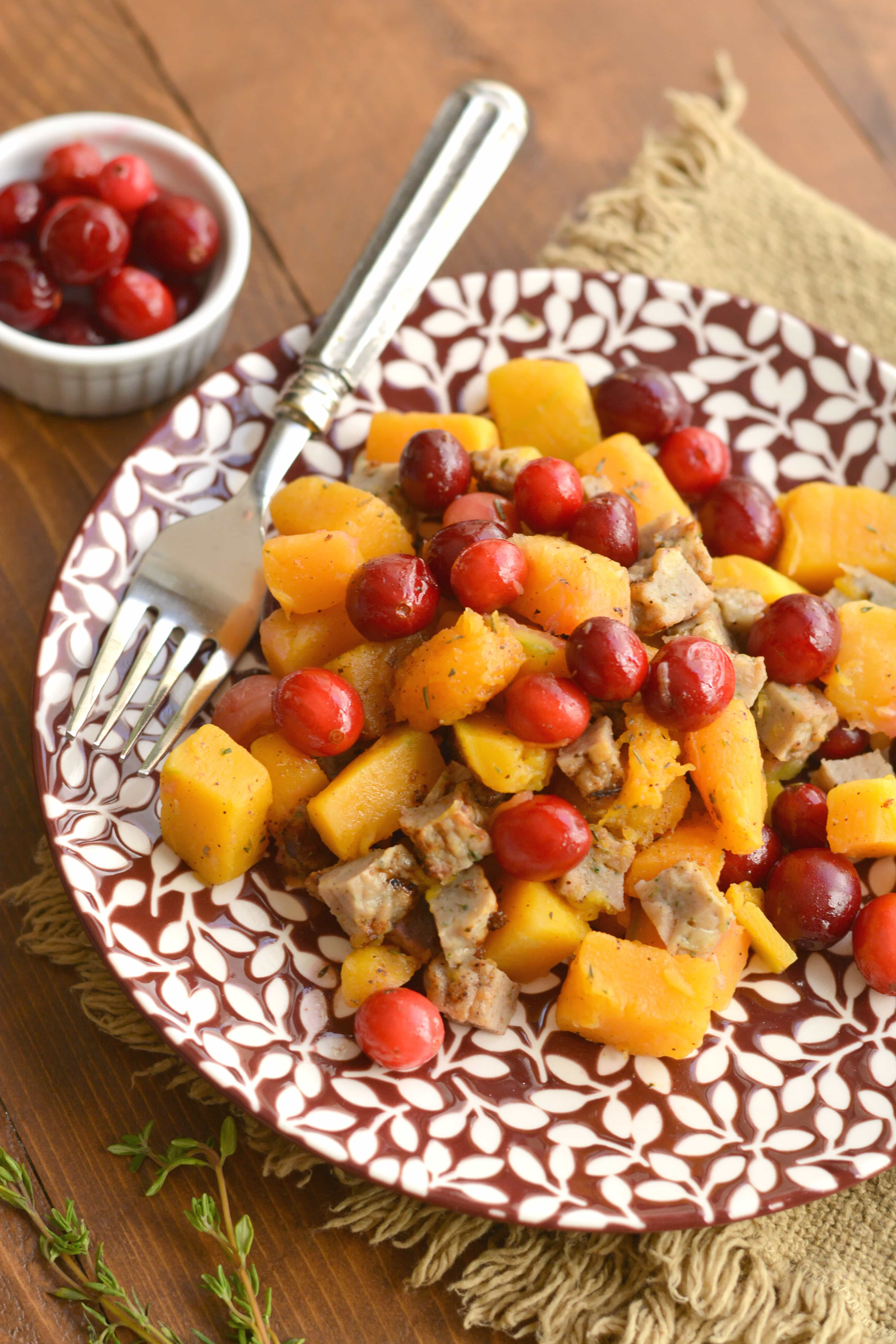Butternut Squash and Cranberry Skillet Meal Prep Idea