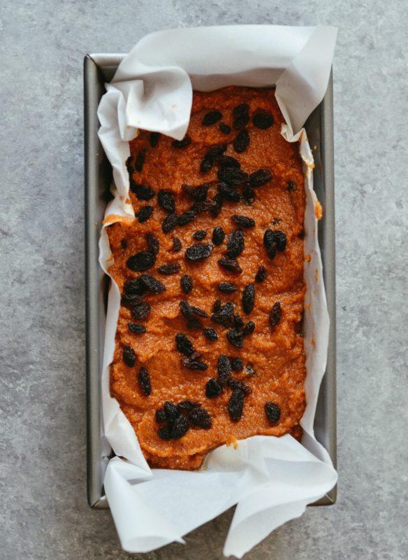Cinnamon Raisin Sweet Potato Snack Bread