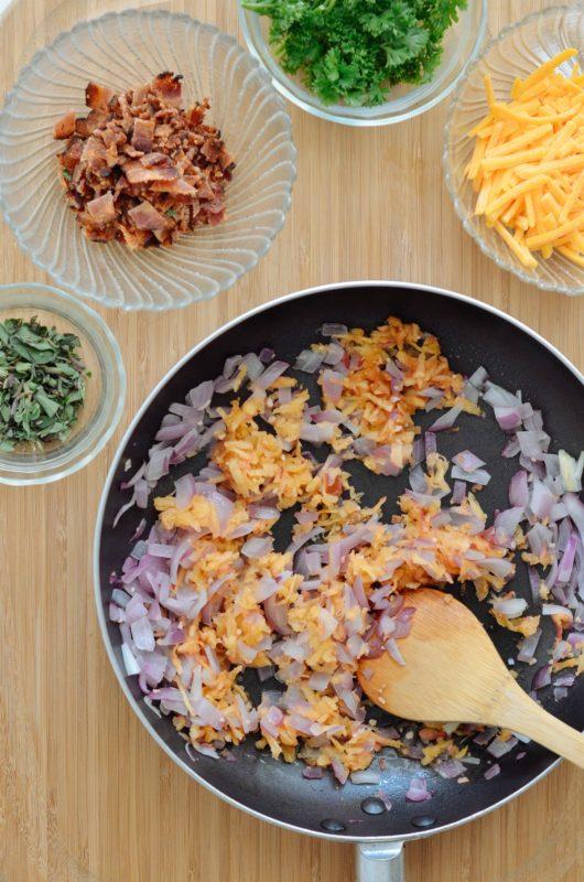 Apple, Bacon, Onion & Cheddar Breakfast Squares