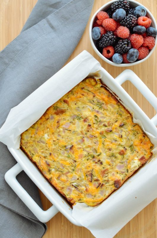 Apple, Bacon, Onion & Cheddar Breakfast Squares
