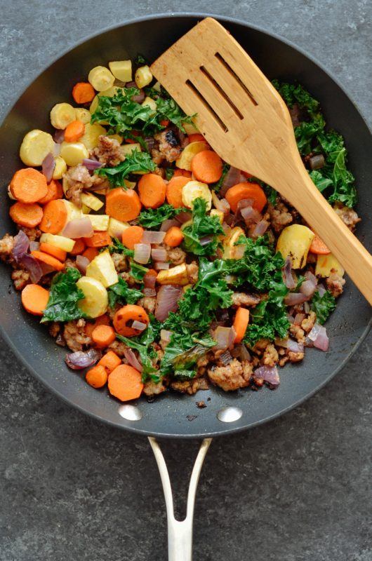 Sausage, Kale & Pomegranate Hash Meal Prep
