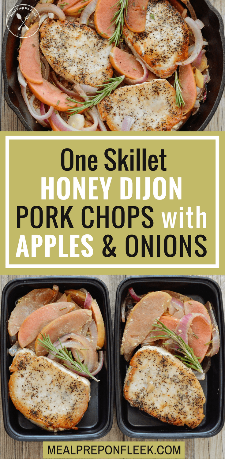 One Skillet Honey Dijon Pork Chops With Apples & Onions