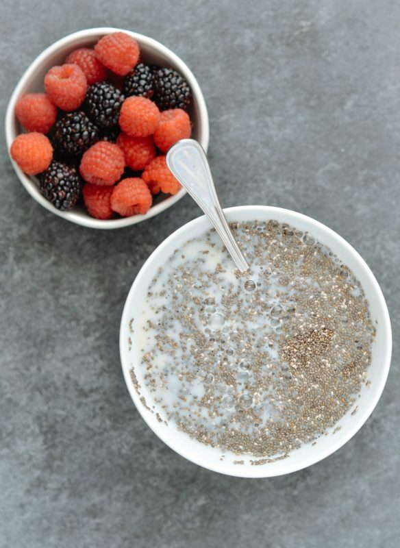 Berry Almond Chia Pudding Meal Prep