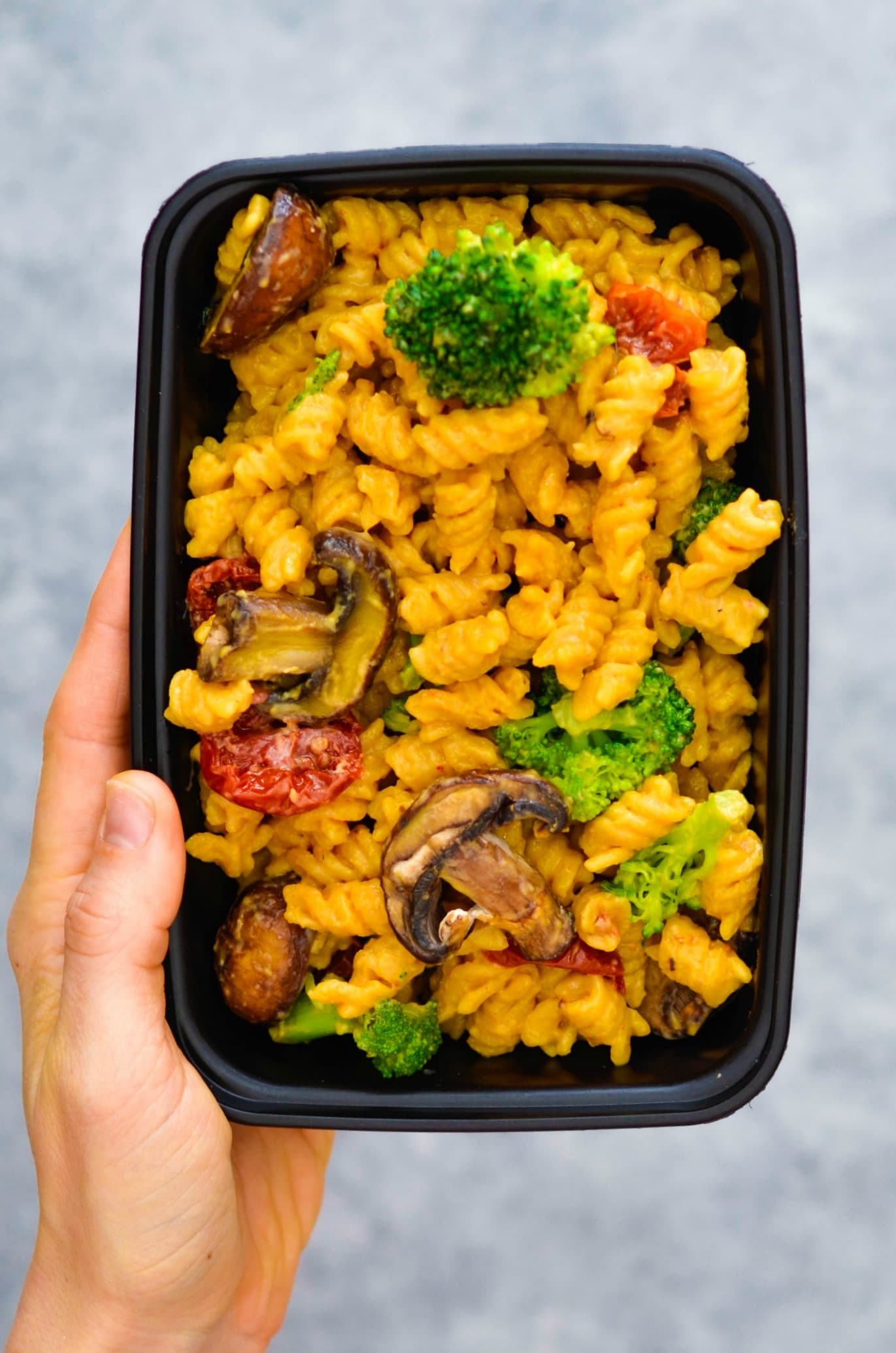 Sun Dried Tomato Broccoli & Portobello Mushroom Mac & Cheese 1