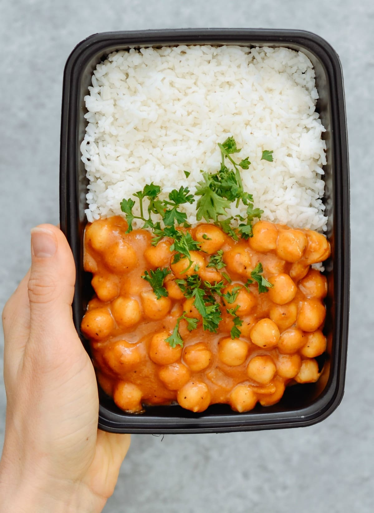Vegan Chickpea Curry & Basmati Rice
