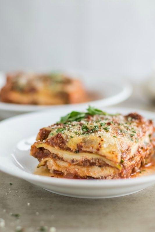 Low Carb Lasagna Meal Prep