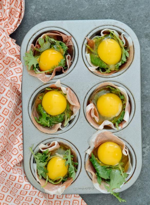 Keto Prosciutto Egg Cups