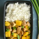 Lighter Mango Chicken Sticky Rice Meal Prep