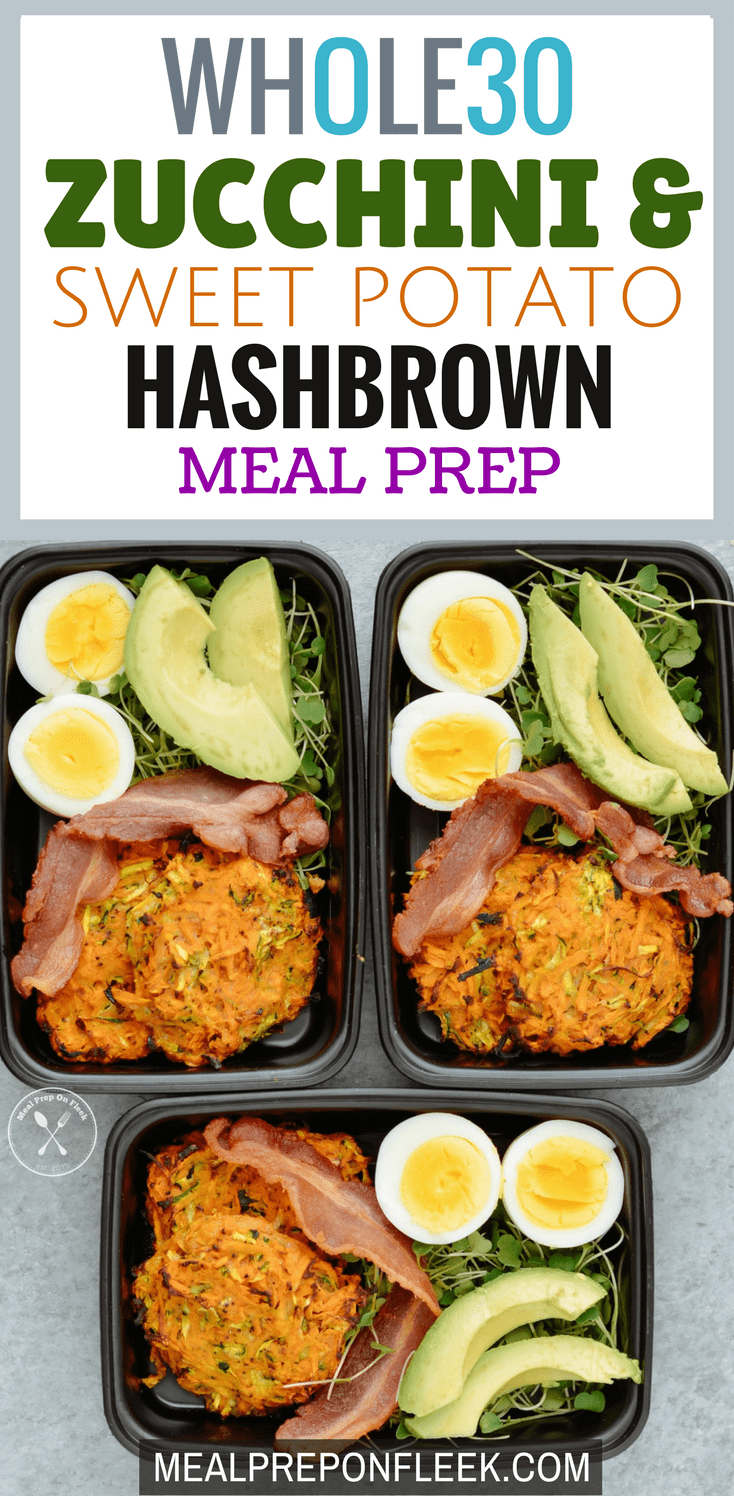 Whole30 Zucchini & Sweet Potato Hashbrown Meal Prep blog