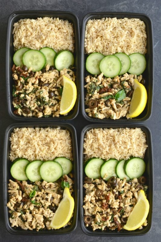 Greek Rice & Turkey Meal Prep Bowls
