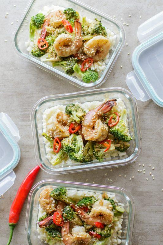 Whole30 Garlic Shrimp & Broccoli Meal Prep