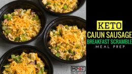 (Keto) Cajun Sausage Breakfast Scramble Meal Prep blog