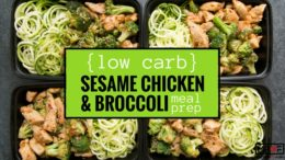 (Low Carb) Sesame Chicken & Broccoli Meal Prep blog