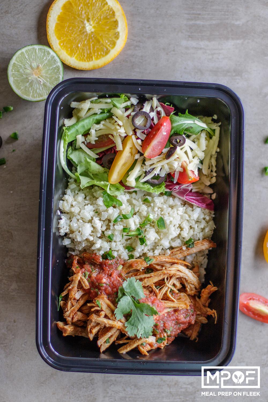 Slow Cooker Keto Pork Carnitas Meal Prep