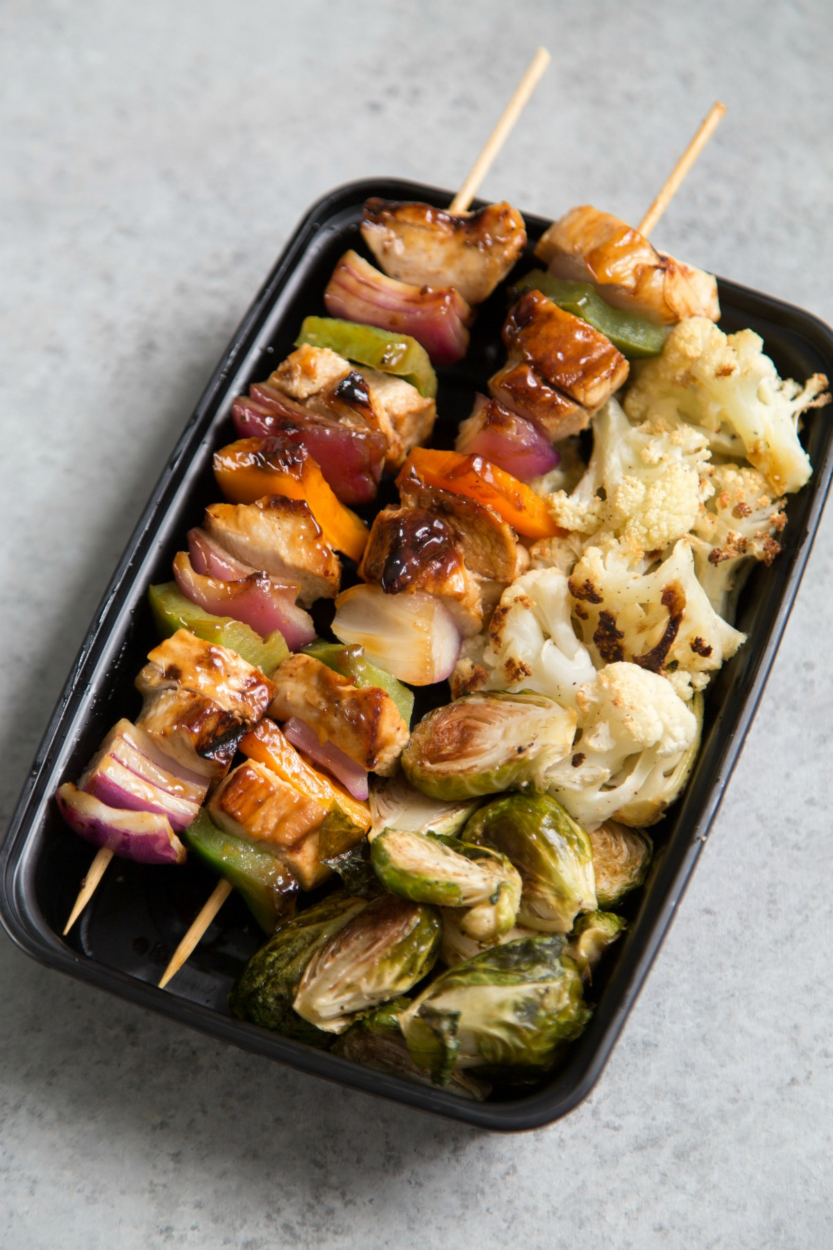 Paleo Hawaiian Chicken Teriyaki Skewer Meal Prep