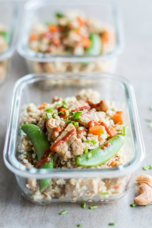 Low Carb Pork Fried Rice Meal Prep