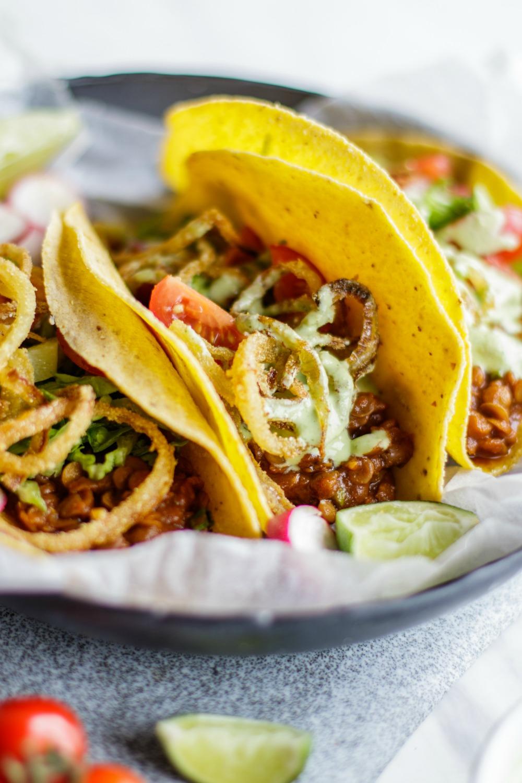 Vegan BBQ Lentil Taco Meal Prep