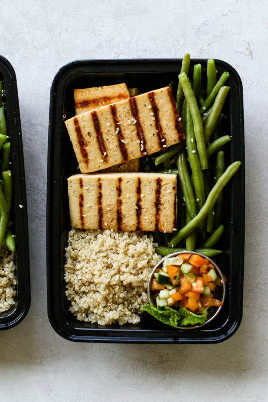Vegan Apricot Cucumber Tofu Steak Meal Prep
