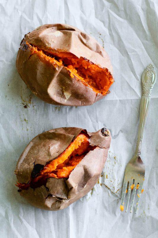 Scrambled Egg Stuffed Sweet Potato Meal Prep