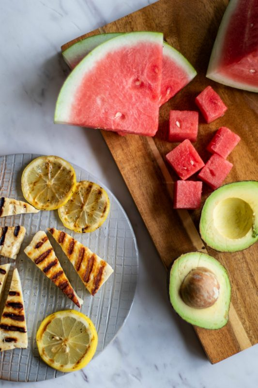 Grilled Halloumi and Watermelon Salad
