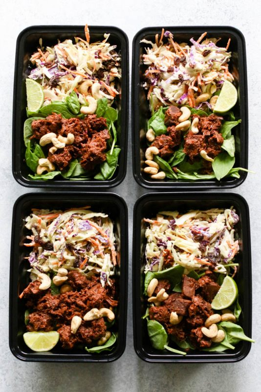 BBQ Jackfruit & Avocado Slaw Meal Prep